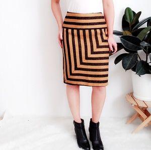 Eva Franco Anthropologie Stripe Retro Pencil Skirt